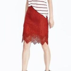 NWT $118 Banana Republic Lace Pencil Skirt